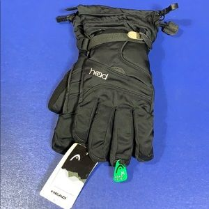 NWT Head Jr Black Ski Gloves XL